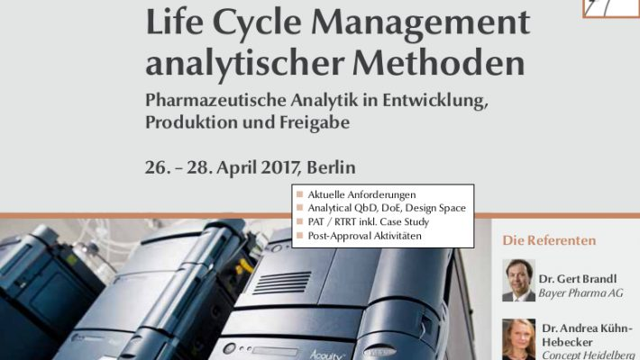 Life Cycle Management analytischer Methoden