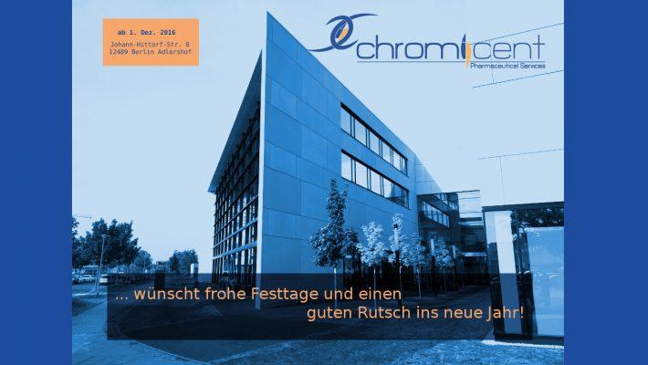Umzug / GMP-Zertifizierung / Frohe Festtage & ein gesundes 2017